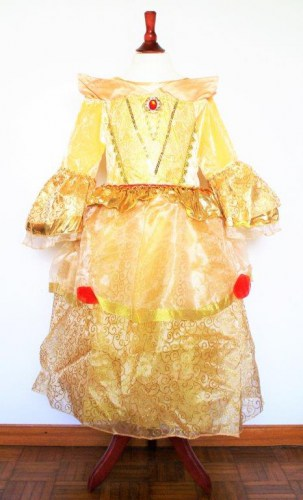 Belle-Prinzessinnen-Kleid-gold-1