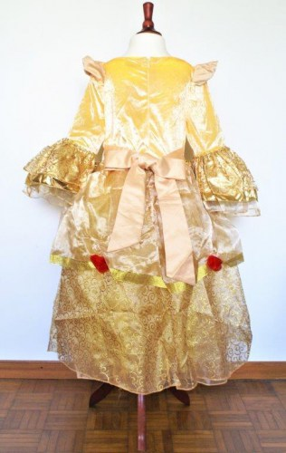 Belle-Prinzessinnen-Kleid-gold-2