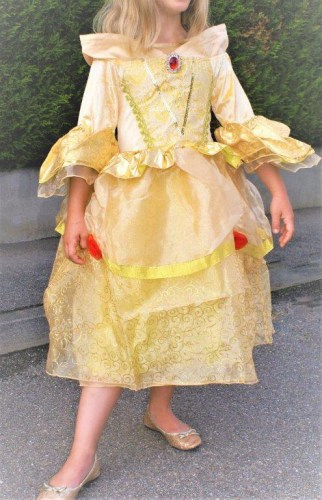 Belle-Prinzessinnen-Kleid-gold-4
