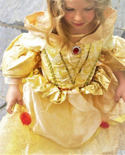 Belle-Prinzessinnen-Kleid-gold-6